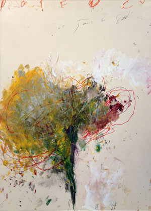 Cy Twombly Fifty Years Of Works On Paper Glasstire