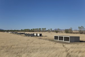 Donald Judd, 15 untitled works in concrete, 1980-1984, detail.   Permanent collection, the Chinati Foundation, Marfa, Texas, photograph by Douglas Tuck, 2009..
