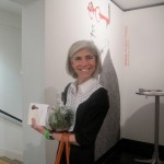 Judy Nyquist with a newly acquired Vernon Caldera terrarium