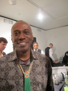 Selven O'Keef Jarmon wearing beaded inspiration
