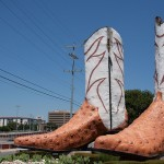 "Worlds largest cowboy boots in SA, built in the late 1970s by Bob ""Daddy-O"" Wade after he had built a giant iguana for New York City's Hard Rock Cafe."