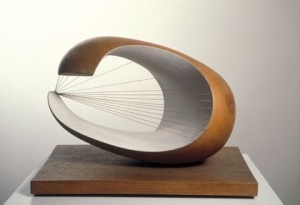 Wave, Plane wood with colour and strings, 1943–44 (BH 122), Scottish National Gallery of Modern Art, Edinburgh
