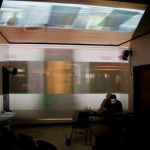 Carlos Pozo performing live at Khon's. photo (and video projection) by Pablo Gimenez Zapiola.