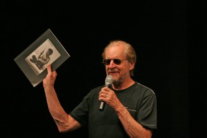 "Larry Clark speaks to audience members about his book and film ""Tulsa"""