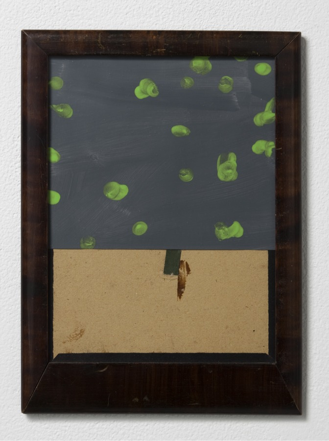 Fergus Feehily, Courtyard, 2010, Gouache on paper, found frame 11 x 8 1/8 x 5/8 in. Courtesy of Misako & Rosen, Tokyo Collection of Nodoka Kinsho © Fergus Feehily