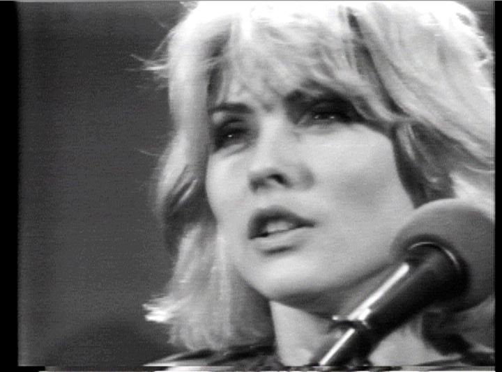 "Debbie Harry in a still from Glen O'Brien's ""TV Party"""
