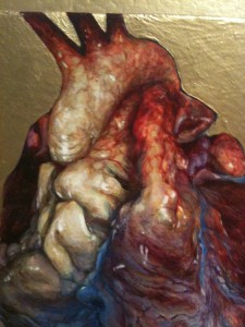 "Open heart: detail of another painting in ""Proprium Cycle."""
