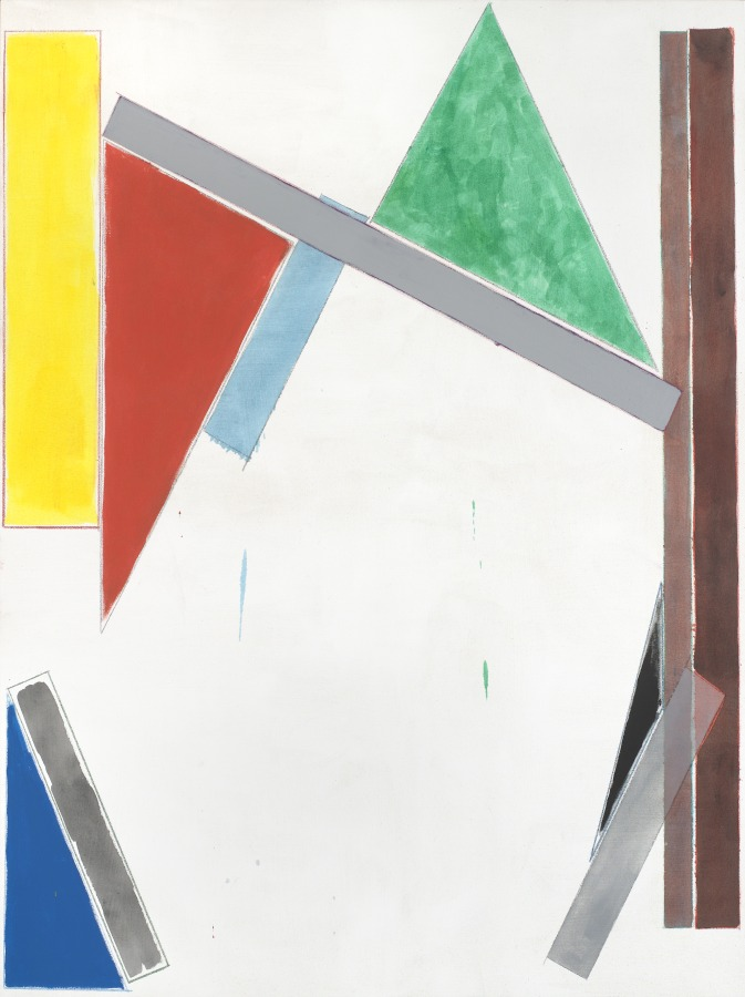 Matt Connors, Primary, 2011, oil, acrylic and colored pencil on canvas 60 x 45 in. Courtesy of the artist and Cherry and Martin, Los Angeles © Matt Connors