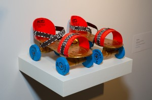 "Libby Black, ""Hermes, Gucci, Chanel, Roller Skates,"" 2011, mixed media"