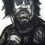 Regis Shephard, Self-Portrait, 2002-2003 charcoal on paper