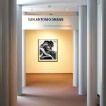 "At the exhibition's entrance, a Nate Cassie powerhouse: ""Regis."""