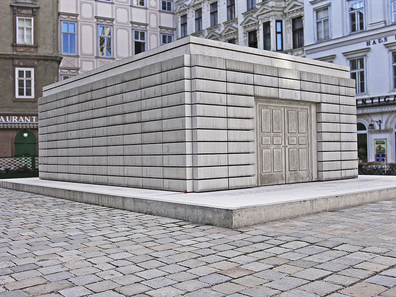 Rachel Whiterred's Holocaust Memorial, Judenplatz, Austria, 2000