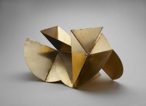 Lygia Clark, Bicho (Máquina), Anodized aluminum, 21 x 35 1/2 x 21 1/2 inches (variable), 1962