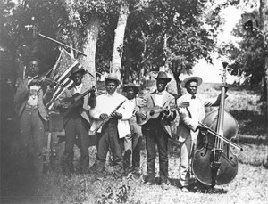 Juneteenth celebration in Eastwoods Park, Austin, 1900 (Austin History Center)