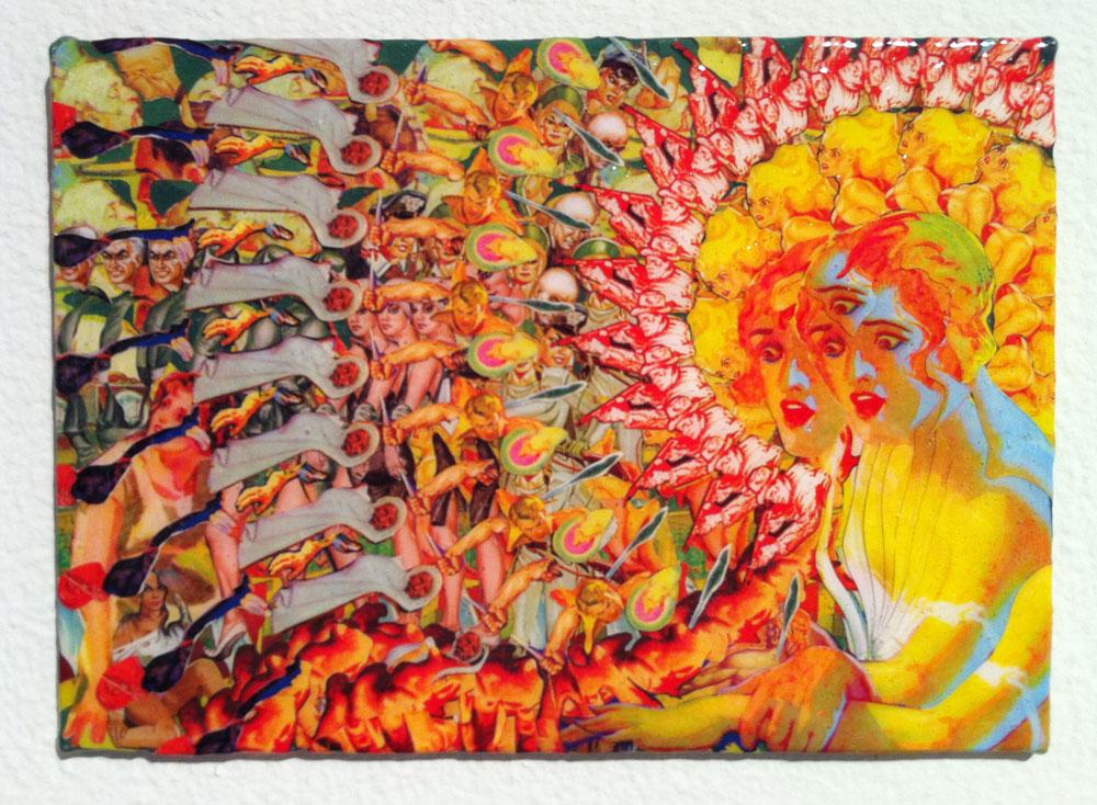 Patrick Turk, The Scraptacularium Presents: Experiments in Mysticism #8, 2011, collage on panel