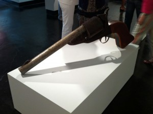 Noah Edmundson, E.F. and G. Firearms Mfg., 2011, steel, wood and found objects