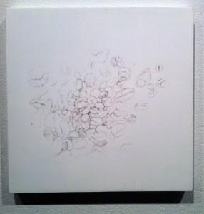 Loli Fernandez, Zu Lang (Too Long)..., 2011, silverpoint on board