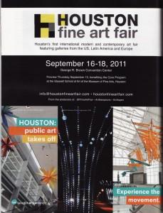 Houston Art Alliance/Houston Fine Art Fair partner ad in Art in America