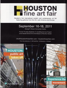 Houston Art Alliance/Houston Fine Art Fair partner ad in Art in America