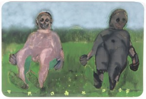 Alessandro Pessoli, Primo Giorno, 2005/6, Oil, enamel, spray paint on aluminum
