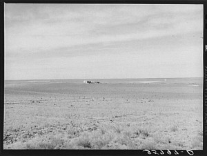 Farmhouse on the high Texas great plains, Dawson County, Texas: photo by Russell Lee, 1940