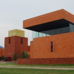 Fort Worth Museum of Science and History, 2010, Legorreta + Legorreta, 1600 Gendy St., Cultural District. Bright color is a key element here, as it is in all buildings designed by the internationally acclaimed Mexican architect, Ricardo Legorreta. The giant 60-foot lantern on top of the entrance to the Fort Worth Museum of Science and History echoes the nearby Pioneer Tower at the nearby Will Rogers Memorial Auditorium. The museum&#039;s interior spaces feature indoor/outdoor courtyards that are in constant visual flux from the natural light that floods the spaces.
