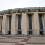 Will Rogers Memorial Center Coliseum, 1936, Wyatt Hedrick, 3301 W. Lancaster, Cultural District The Will Rogers Memorial Center complex includes three main buildings, the Coliseum, 	the Auditorium, each with identical facades and connected by the Pioneer Tower.  All were designed by Wyatt Hedrick and built for the Texas Centennial celebration in 1936. Today, Will Rogers is the site of many national and international equine events and is the 	home of the annual three-week long Southwestern Exposition Livestock Show and Rodeo.
