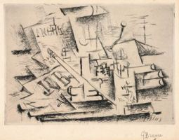 Georges Braque, Job, 1911, etching with drypoint. Melamed Family Collection. © 2011 Artists Rights Society (ARS), New York / ADAGP, Paris