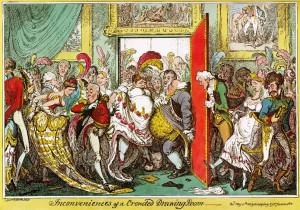 G-Cruikshank-Inconveniences-Crowded-Drawing-Room-1818