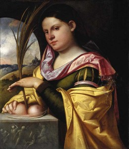 Cariani's Portrait of a Young Woman as Saint Agatha