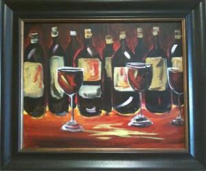 full bottle painting