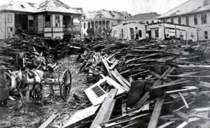 Aftermath of the Galveston hurricane, 1900