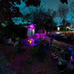 The legendary backyard of the Southtown artist's compound which includes the Sala Diaz gallery, Casa Chuck, and remains the locus of many, many arts get-togethers.(photo by Thomas Cummins)