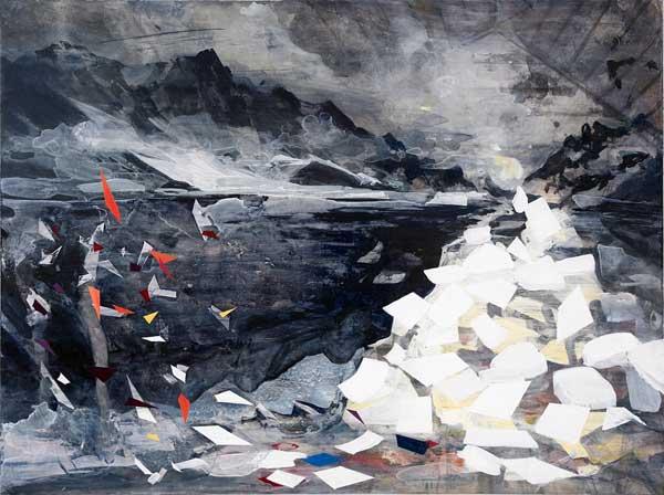 Sigrid Sandstrom- 'Utan titel', akryl på pannå