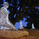 &quot;Tolerance (2011) Jaume Plensa, Buffalo Bayou, Allen Parkway @ Montrose Blvd., Montrose This civic art installation was commissioned and funded by Houston philanthropist Mica Mosbacher and a group of private donors to depict &quot;tolerance, harmony and diversity&quot; in Houston.  Spanish artist Jaume Plensa, whose outdoor sculptures have been installed all over the world, designed a series of seven kneeling figures and placed them under the majestic oak trees along the Buffalo Bayou jogging path. According to the artist, the ten-foot tall figures represent the seven continents of the world. The figures are fabricated out of jumbled stainless steel lettering derived from alphabets across the globe.