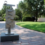 Lillie and Hugh Roy Cullen Sculpture Garden, 1986, designed by Isamu Noguchi, 5100 Montrose Blvd., Museum District. Designed by Isamu Noguchi, this refreshing urban oasis features more than 25 outdoor sculptures, installed directly across the street from the Fine Arts Museum. David Smith&#039;s &quot;Two Circle Sentinel&quot; is shown here, flanked by Marino Marini&#039;s &quot;The Pilgrim (Il Pellegrino)&quot;, Bryan Hunt&#039;s &quot;Big Twist&quot;, Joseph Havel&#039;s &quot;Exhaling Pearls&quot; and Frank Stella&#039;s &quot;Decanter&quot;. Works by Henri Matisse, Auguste Rodin, Alberto Giacometti, Ellsworth Kelly, as well as Texas artists Linda Ridgway and Jim Love are also featured in this acre of tranquility.