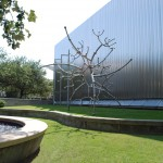 Contemporary Arts Museum Houston, 1972, architect Gunnar Birkerts, 5216 Montrose Blvd., Museum District. CAMH was founded in 1948 to exhibit new art. The non-profit, volunteer-run organization built a small building in 1950 and hired its first paid professional director, Jermayne MacAgy, in 1955.   The striking Gunnar Birkerts&#039; building opened to great fanfare in 1972. In the 1990s, the museum re-focused its mission to exhibit art from the previous forty years. &quot;Molecular 3 + 3&quot;, a James Surls sculpture, was installed on the lawn in front of the museum in March 2011 and is on extended loan to the museum, courtesy of the artist.