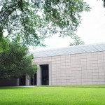 Cy Twombly Gallery, 1995, Renzo Piano, 1501 Branard St. More than thirty works of art by American abstract painter and sculptor Cy Twombly (1928-2011) are permanently showcased in this satellite building adjacent to the Menil.  It is Renzo Piano's second project commissioned by the Menil Foundation and was produced in collaboration with the Dia Art Foundation which was co-founded by the de Menil's youngest daughter, Philippa.