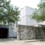 Byzantine Fresco Chapel, 1997, architect Francois de Menil, 4011 Yupon St. Designed by John and Dominique de Menil&#039;s architect son, Francois, the stone and concrete building contains no windows, except a single, expansive skylight.  It houses two 13th century frescoes that had been stolen from a small chapel in Cyprus in the 1980s.  With the blessing of the Cypriot government, the de Menils arranged to purchase and restore the two frescoes that had been broken into 38 pieces to sell on the black market.