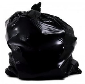 Black, from the Trash Bag Series, 2001