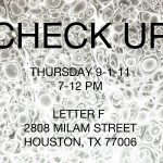 Letter F presents: Check Up