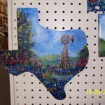 Texas plaque by Pat Blackwell, not appearing in the TX Contemporary art fair