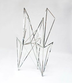 "Hillerova's ""Angel Crystal,"" made of glass, steel, and mirrors"