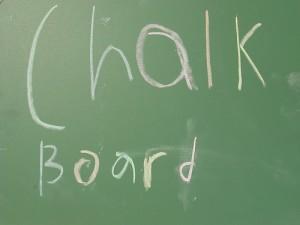 chalk board artpace