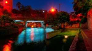 Martin Richman San Antonio River art installation at Lexington Avenue Bridge next to the Tropicana Hotel and Municipal Auditorium, part of the Museum Reach of the Riverwalk extension. (Photo by Thomas Cummins)