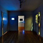 Interior of Unit B gallery, Kimberly Aubuchon's artist-run space, photo by Thomas Cummins during his exhibition there. (photo by Thomas Cummins)