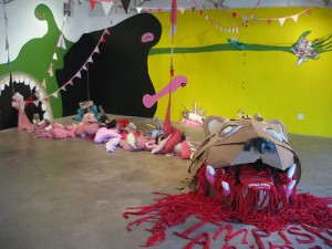 "Jason Villegas' ever-evolving sexual futurism in ""Impish Animal,"" 2007 at Okay Mountain"
