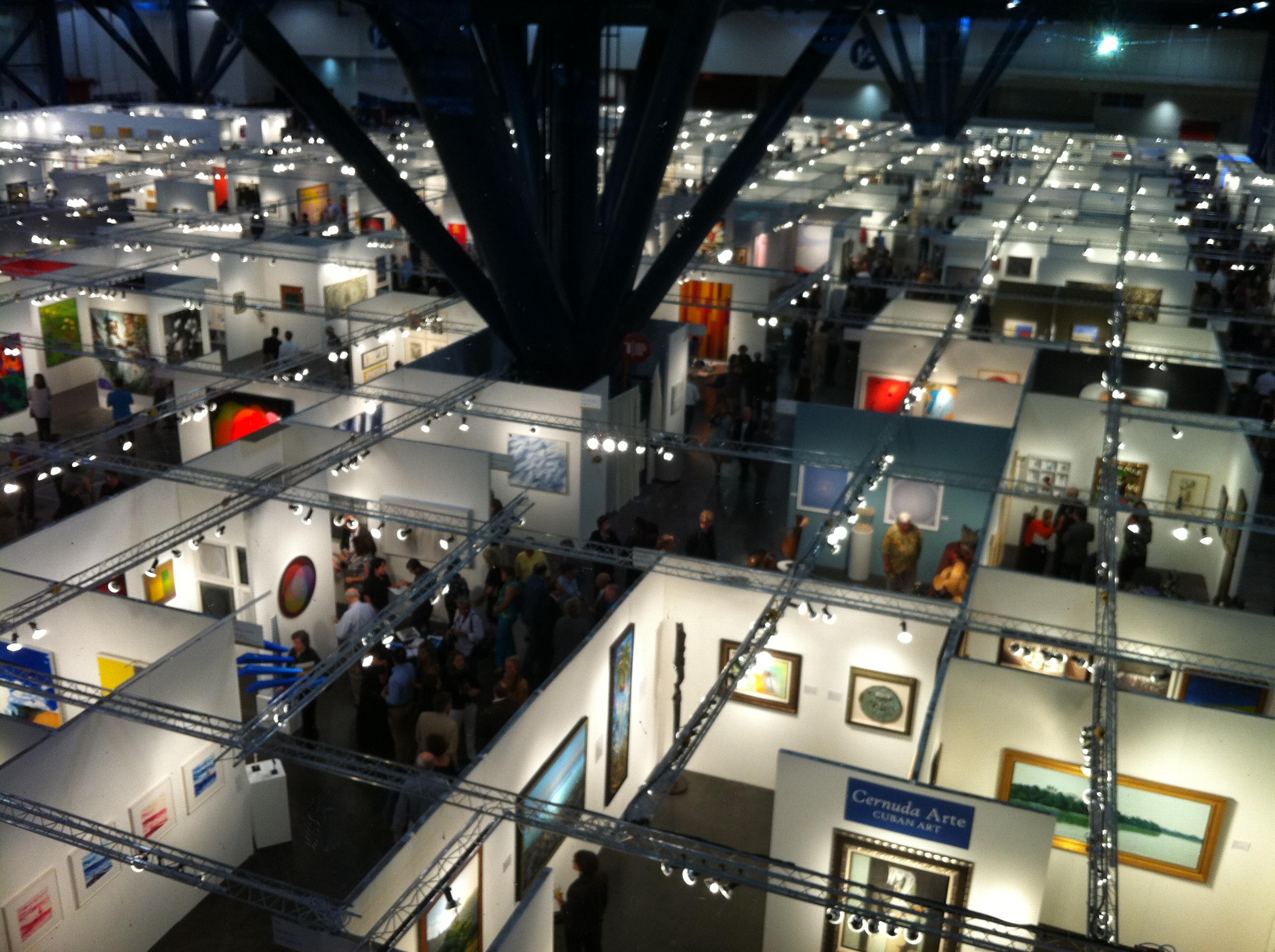 Dwarfing the Dallas Art Fair (not that we're comparing): the Houston Fine Art Fair is big!