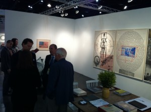 Hiram Butler's booth. He sold that Jasper Johns flag -- one of the first big sales of the fair!