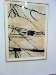 Randy Twaddle drawing at Moody Gallery.